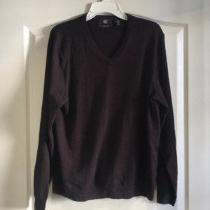 Calvin Klein 100% wool Maroon Sweater